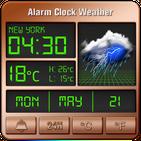 Alarm clock style weather widget