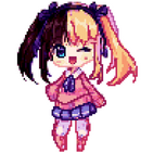 Anime Dolls Color by Number - Pixel Art Coloring