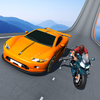Car vs. Heavy Bike Racing