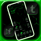 Cool Neon Green Launcher Theme