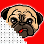 Dog Pixel Art: Coloring By number