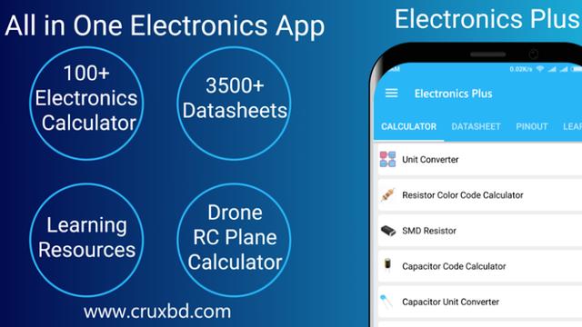 Download Electronics Plus :100+Calculator,Arduino,Datasheet free on