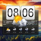 Flip Clock & Weather Widget