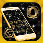 Gold Black Launcher Theme