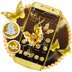 Golden ButterFly Launcher Theme