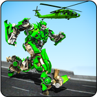 Helicopter Robot Transmute : Robot Shooting Game