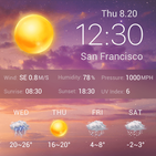 Live weather background app