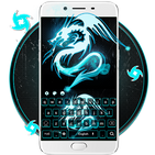 Neon Dragon Art 3D Keyboard Thema