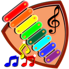 Play xylophone with musical notes.